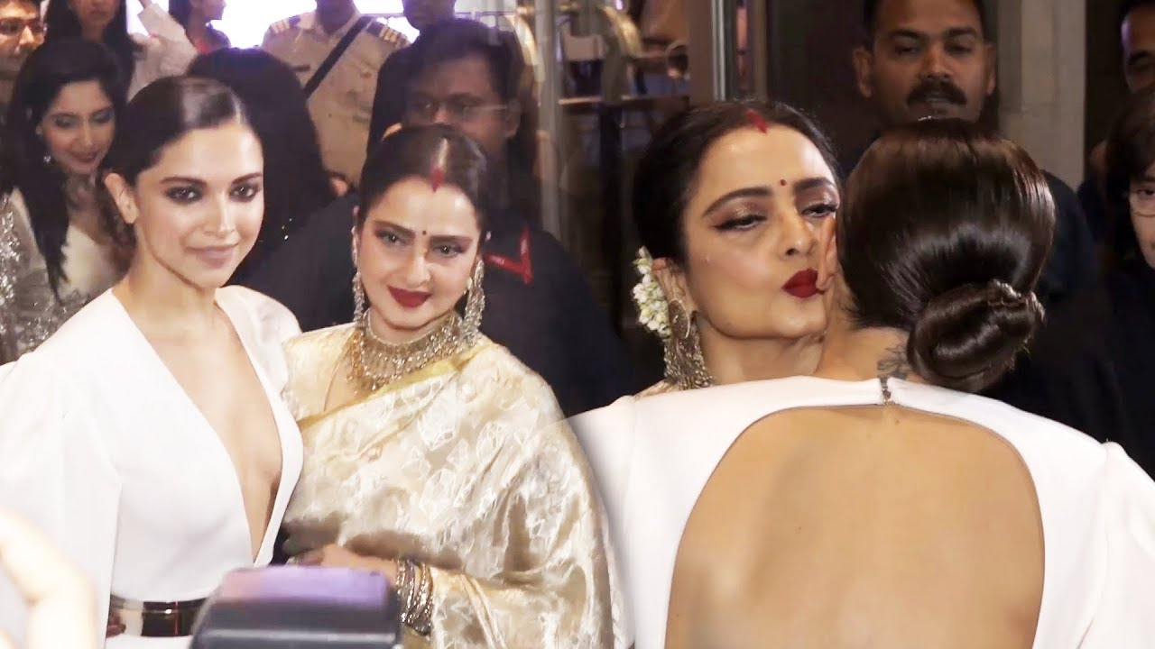 Deepika Padukone और Rekha का CUTE MOMENT At HELLO Hall Of Fame Awards 2018