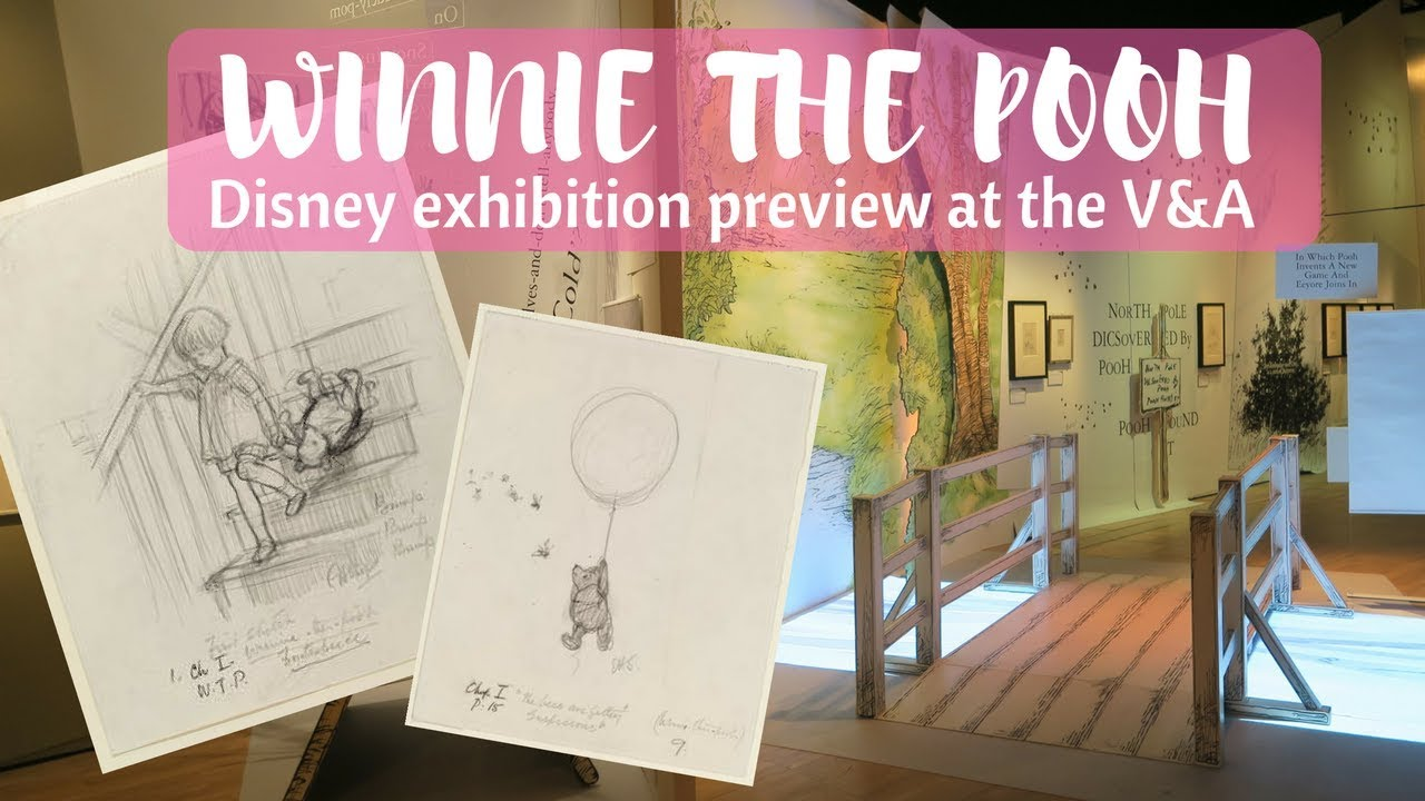 D Exhibition In London : Winnie the pooh exhibition preview at the v&a disney event in