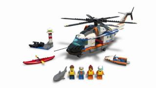 Heavy-duty Rescue Helicopter - LEGO City Coast Guard - 60166 - Product Animation