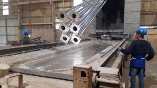 Hot Dip Galvanizing- Dipping Process....... in action