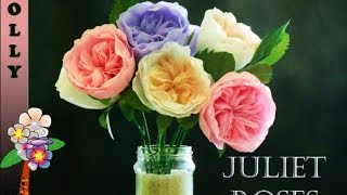Paper Flowers Tutorial Easy Juliet Rose (perfect For Valentine Or Mother Day)