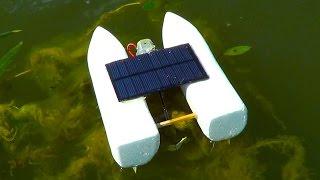 Модель катамарана на солнечной батарее / Model of a catamaran with solar battery(Всем привет! Я Андрей, в этом видео я покажу вам как сделать очень интересную модель катамарана, который..., 2016-08-04T19:14:12.000Z)
