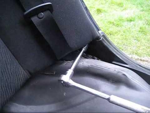 e46 rear seat removal