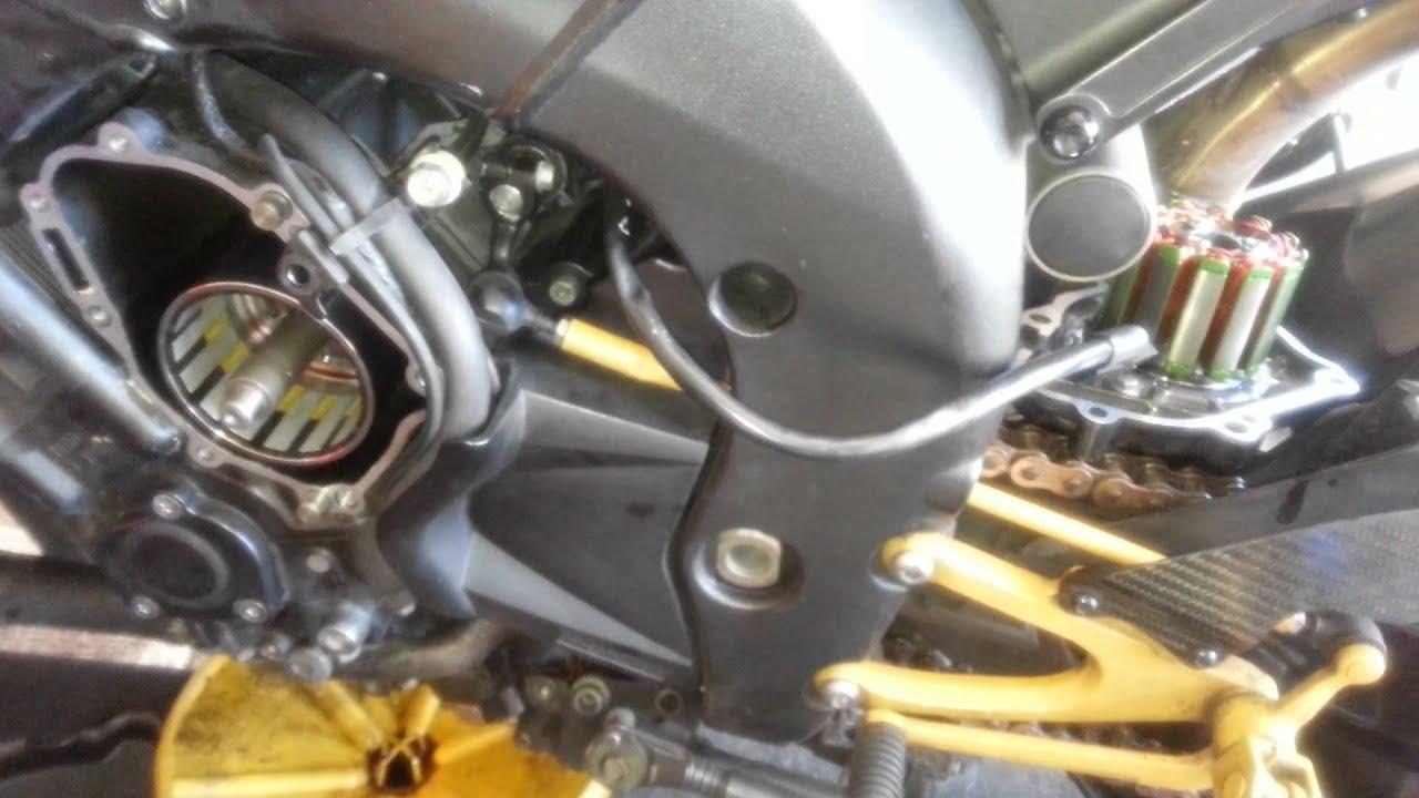 2014 Yamaha Fz6 Wiring Diagram 06 Yamaha R1 Stator Flywheel Replacement Youtube