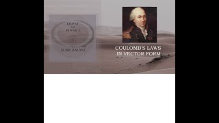 coulomb law in position  vector form