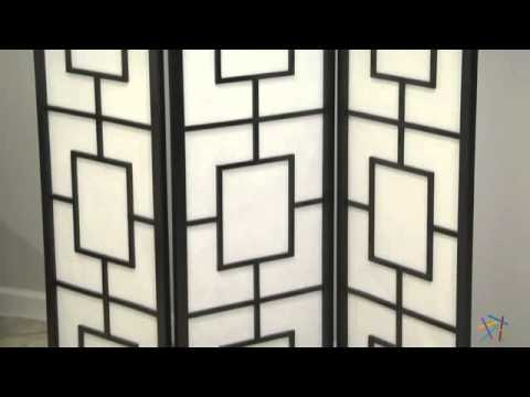 Black Lantern Silhouette 3-Panel Screen Room Divider - Product Review Video