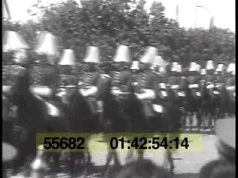 10 May 1932 Royal National Day, Bucharest. Parade - King Carol II of Romania, Prince Nicholas