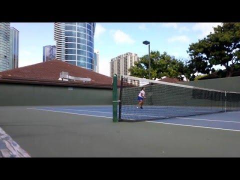Tennis at Ala Moana Tennis Court - Honolulu