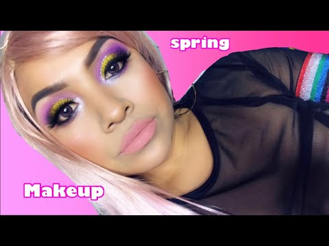 Spring Makeup Look  Beauty By Isa 💜💛💜🧡