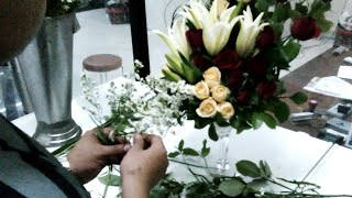 Cara merangkai bunga