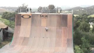 Skateboarder Flies Across Giant Halfpipe