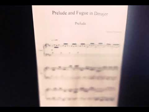 A Grade A Level Music Composition  Prelude and Fugue in D
