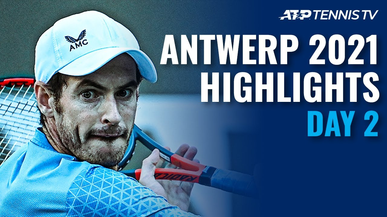 Murray Battles Tiafoe; Paire, Harris and Opelka In Action | Antwerp 2021 Day 2 Highlights