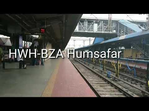 20889 Howrah-Vijayawada Humsafar Express arriving Vijayawada Jn with 22717 WAP-4 BZA