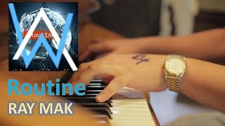 Alan Walker x David Whistle - Routine Piano by Ray Mak