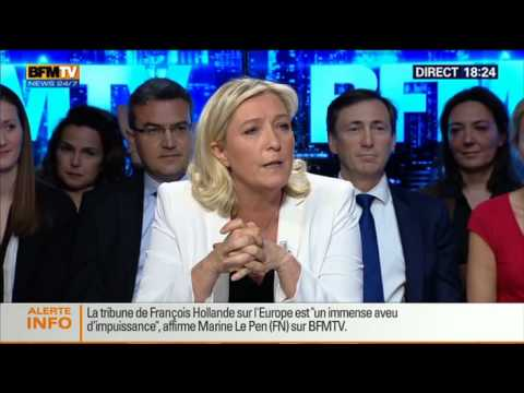 BFM Politique: L'interview de Marine Le Pen par Apolline de Malherbe - 11/05 1/6