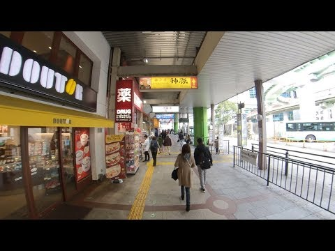 三宮駅周辺を360度動画で歩き撮り(画面回せます)