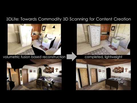 3DLite: Towards Commodity 3D Scanning for Content Creation (SIGGRAPH ASIA 2017)