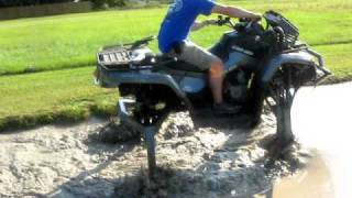 Biggest ATV in the world goes through our pit!