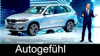 BMW X5 eDrive Concept premiere - model for 2016 BMW X5 xDrive 40e - Autogefühl