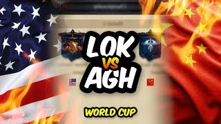 CHINA vs USA - WORLD CUP FINALS - AGH vs LoK - LIVE - Clash of Kings