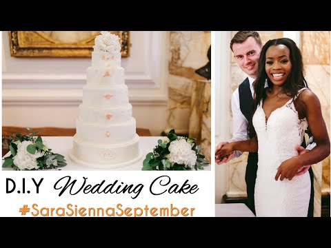DIY WEDDING CAKE! How to make a wedding cake for beginners!