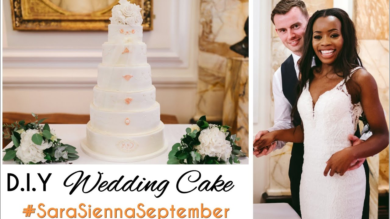 DIY WEDDING CAKE! How to make a wedding cake for beginners! - YouTube