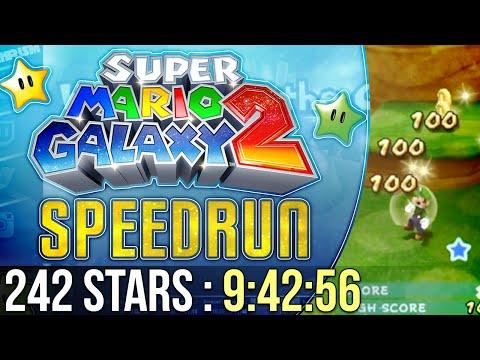 Super Mario Galaxy 2 242 Stars Speedrun in 9:42:56