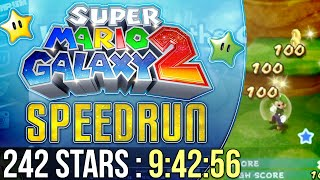 Super Mario Galaxy 2 242 Stars Speedrun in 9:42:56