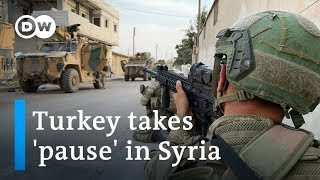 Is Turkey's 'pause' in offensive against Syrian Kurds holding? | DW News
