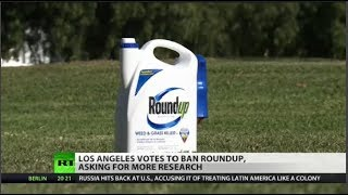 LA bans Roundup Los Angeles has voted to ban use of the popular weedkiller Roundup pending more research into the carcinogenic nature of glyphosate, its active ingredient., From YouTubeVideos