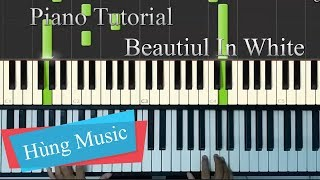[Piano Tutorial] Westlife Beautiful in white piano - Beautiful in white
