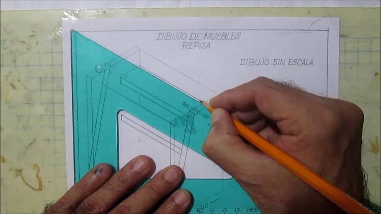 dibujo tÉcnico - dibujo de muebles - repisa - youtube - Dibujo De Muebles