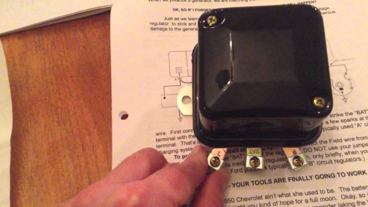 delco generator wiring diagram light uk 13 cub cadet restoration voltage regulators and generators youtube