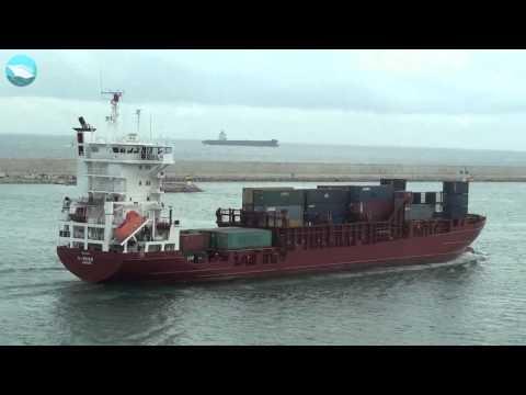 MERCHANT NAVY K RIVER CONTAINER SHIP VIDEO