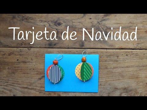 Tarjetas de navidad infantiles con unas bolas navideñas en 3D
