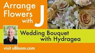 How to Make a Hydrangea Wedding Bouquet!