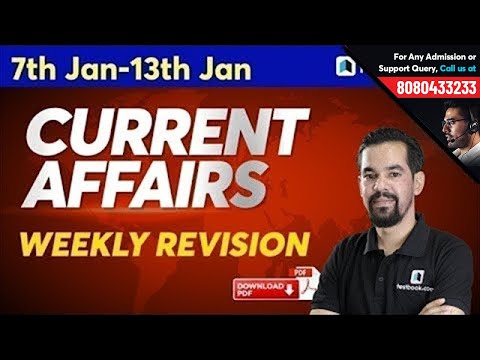 7-13 January Current Affairs for DRDO MTS 2020, Bank PO & Clerk | Weekly Revision | Episode 493