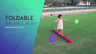 Folding Balance Beam for Young Gymnasts