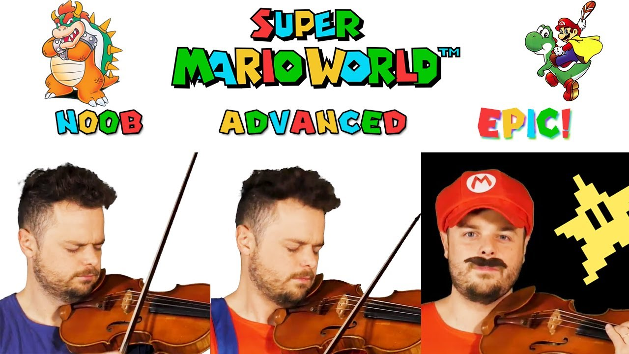 5 Levels of Super Mario World Theme: Noob to Epic