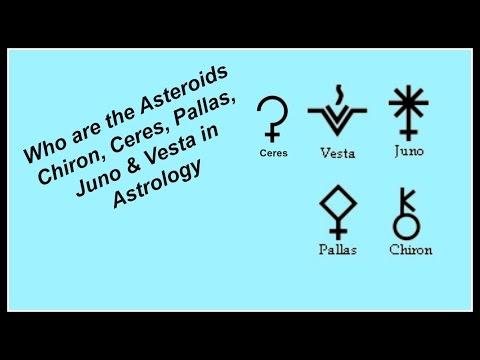 Who are the Asteroids Chiron, Ceres, Pallas, Juno & Vesta in