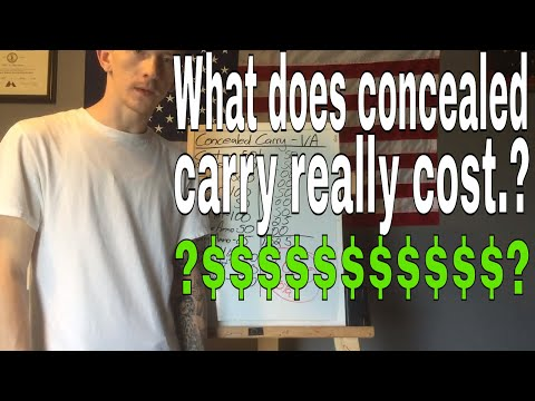 How to get a concealed carry permit in VA and the cost involved.