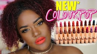 Are they good? *New* COLOURPOP LUX Lipsticks Swatches + Review on Dark Skin!