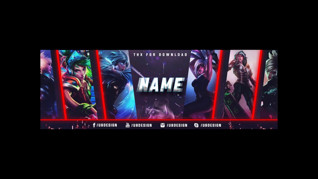 League Of Legends Youtube Banner Template