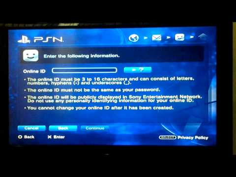 How to sign in to PSN (PS3/PS4)
