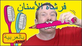 أغنية أغسل أسنانك، قصة للأطفال مع ستيف وماجي جديد | التحدث باللغة العربية