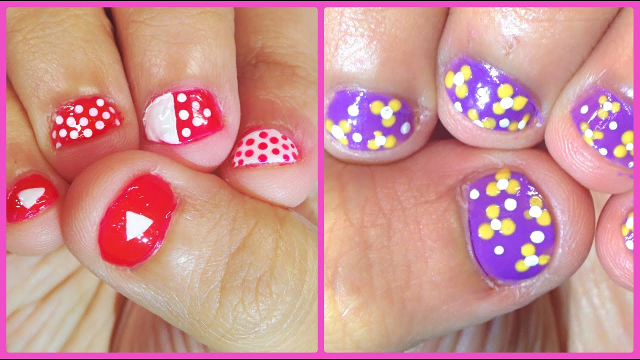easy at home nail designs for short nails.  Nail Art For Short Nails ChipperNails Giveaway Closed YouTube