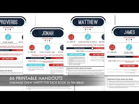 66 Printable Books of the Bible Summary Sheets - YouTube