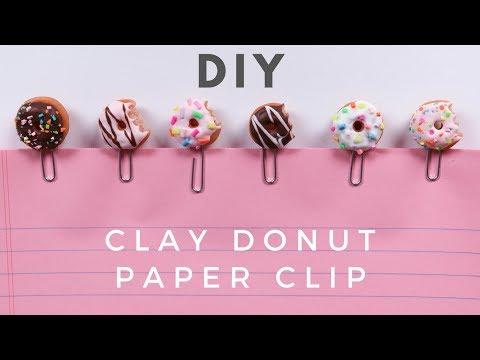 DIY Clay Donut Paper Clip