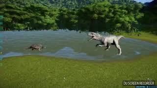 Jurassic world evolution - Polacanthus vs Indominus rex (Dino battles ep 2)